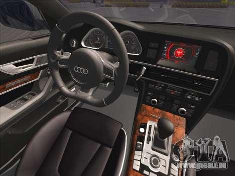 Audi RS6 pour GTA San Andreas vue de dessus