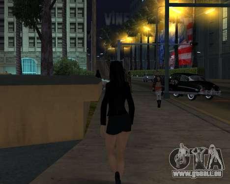 Black Dressed Girl pour GTA San Andreas troisième écran