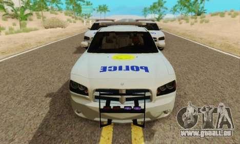 Pursuit Edition Police Dodge Charger SRT8 pour GTA San Andreas laissé vue