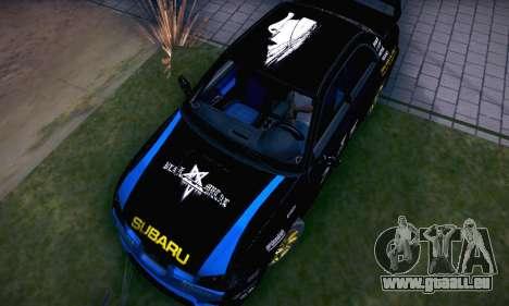 Subaru Impreza WRC STI Black Metal Rally pour GTA San Andreas