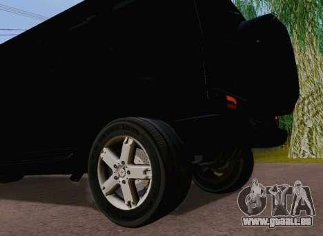 Mercedes-Benz G500 Limousine für GTA San Andreas Rückansicht