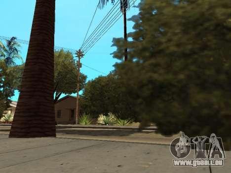 Dschungel auf einer Straße Aztec für GTA San Andreas her Screenshot