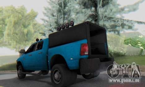 Dodge Ram 3500 Super Reforzada pour GTA San Andreas vue de droite