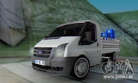 Ford Transit Pikap für GTA San Andreas zurück linke Ansicht