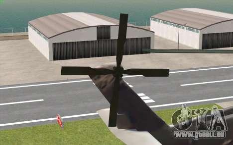 UH-60 Blackhawk für GTA San Andreas zurück linke Ansicht