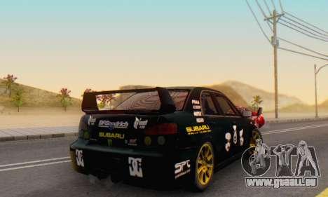 Subaru Impreza WRC STI Black Metal Rally für GTA San Andreas Innenansicht