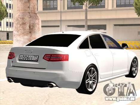 Audi RS6 pour GTA San Andreas vue arrière