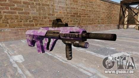 Machine Steyr AUG A3 Violet Camo pour GTA 4