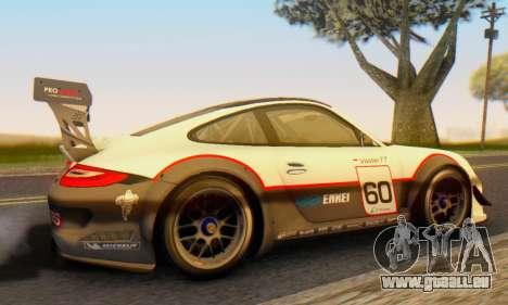 Porsche GT3 R 2009 für GTA San Andreas zurück linke Ansicht