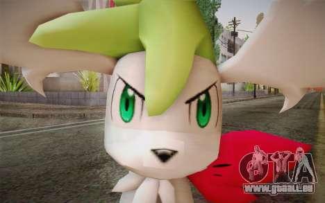Shaymin Sky from Pokemon pour GTA San Andreas troisième écran