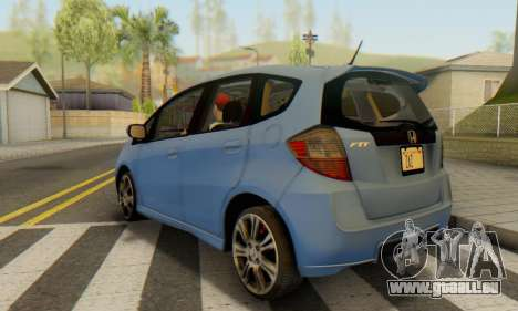 Honda Fit Stock 2009 für GTA San Andreas linke Ansicht