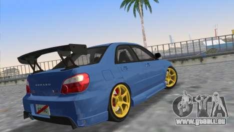 Subaru Impreza WRX STI 2005 pour une vue GTA Vice City de la gauche