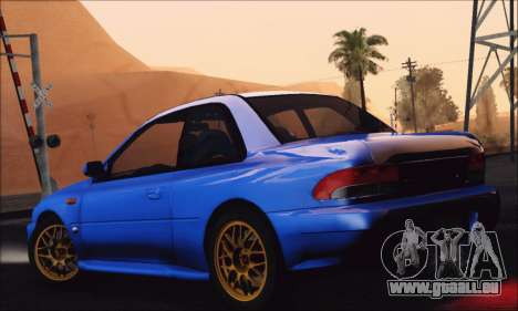 Subaru Impreza 22B STi 1998 pour GTA San Andreas laissé vue