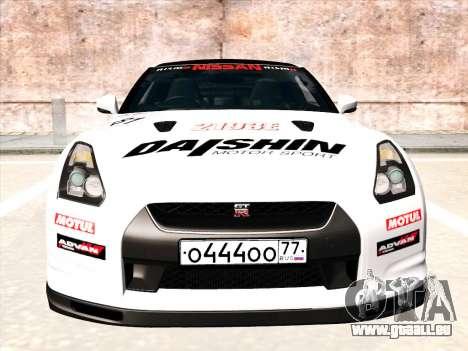 Nissan GTR-R35 Spec-V pour GTA San Andreas vue de dessus
