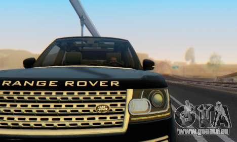 Range Rover Vogue 2014 V1.0 Interior Nero pour GTA San Andreas vue de côté