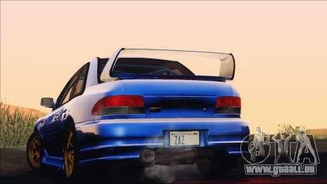 Subaru Impreza 22B STi 1998 pour GTA San Andreas vue de dessous