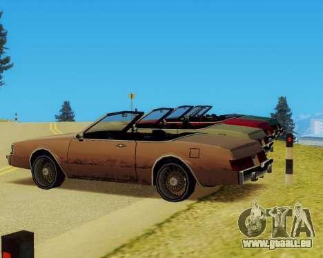 Majestueux Convertible pour GTA San Andreas vue de droite