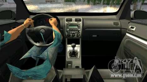 Volkswagen Golf V GTI pour GTA Vice City sur la vue arrière gauche