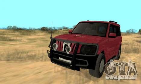 Mahindra Scorpio für GTA San Andreas Innenansicht