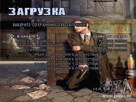L'écran de démarrage de Mafia II pour GTA San Andreas huitième écran