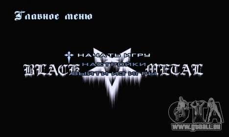 Noir Métal Menu (en plein écran) pour GTA San Andreas deuxième écran