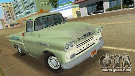 Chevrolet Apache Fleetside 1958 pour une vue GTA Vice City de la gauche