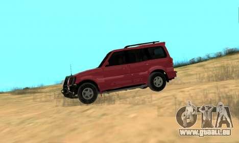 Mahindra Scorpio pour GTA San Andreas sur la vue arrière gauche