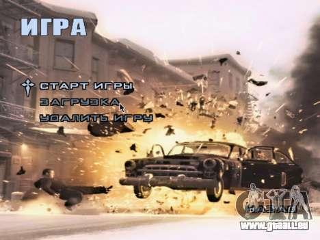 L'écran de démarrage de Mafia II pour GTA San Andreas septième écran