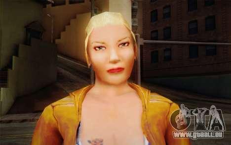 Woman Autoracer from FlatOut v1 pour GTA San Andreas troisième écran