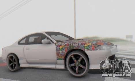 Nissan Silvia S15 Metal Style pour GTA San Andreas vue intérieure