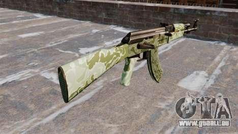Die AK-47 Green camo für GTA 4 Sekunden Bildschirm