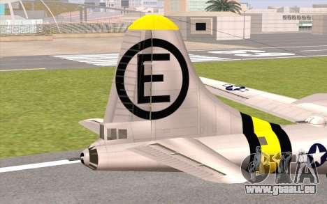 B-29A Superfortress pour GTA San Andreas sur la vue arrière gauche