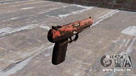 Pistolet FN Cinq à sept tigre Rouge pour GTA 4 secondes d'écran