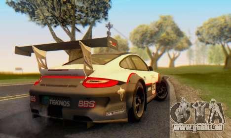 Porsche GT3 R 2009 für GTA San Andreas rechten Ansicht