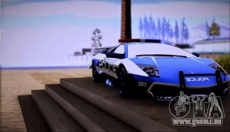 Lamborghini Critiques LP670-4 SuperVeloce, 2010 pour GTA San Andreas sur la vue arrière gauche