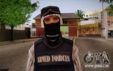 SWAT Snow Camo pour GTA San Andreas troisième écran