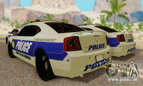 Pursuit Edition Police Dodge Charger SRT8 pour GTA San Andreas vue arrière