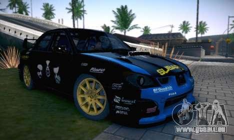 Subaru Impreza WRC STI Black Metal Rally pour GTA San Andreas salon