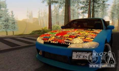 Nissan Silvia S15 Metal Style pour GTA San Andreas sur la vue arrière gauche