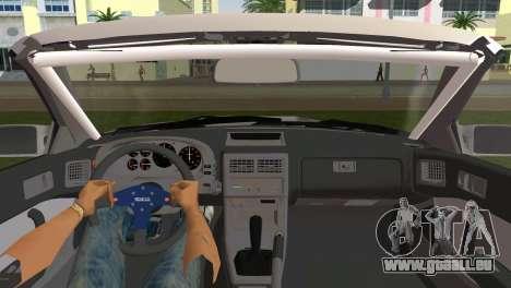 Mazda Savanna RX-7 III (FC3S) pour GTA Vice City sur la vue arrière gauche