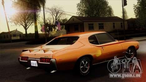 Pontiac GTO The Judge Hardtop Coupe 1969 für GTA San Andreas linke Ansicht
