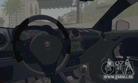 Afla Romeo Mito Quadrifoglio Verde pour GTA San Andreas vue intérieure