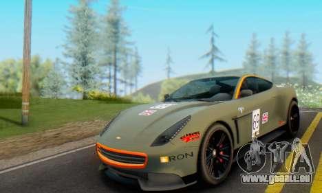 Dewbauchee Massacro 1.0 pour GTA San Andreas vue intérieure