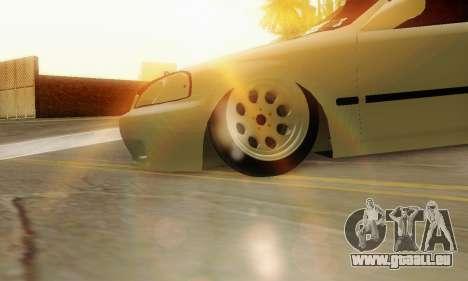 Honda Civic ek Coupe Hellaflush für GTA San Andreas rechten Ansicht