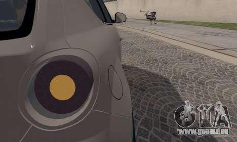 Afla Romeo Mito Quadrifoglio Verde pour GTA San Andreas vue de dessous