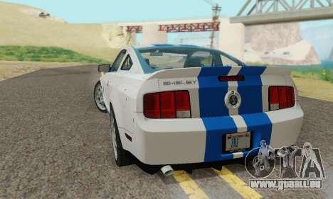 Ford Mustang GT pour GTA San Andreas vue de dessus