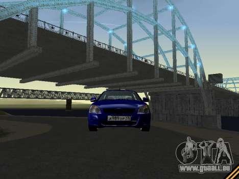 Lada 2170 Priora für GTA San Andreas obere Ansicht