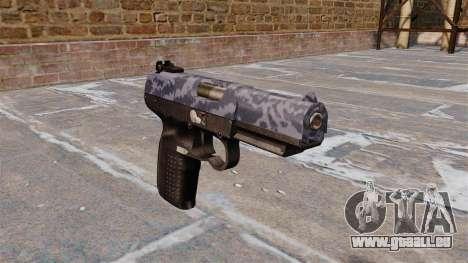 Pistolet FN Five-seveN Bleu Camo pour GTA 4