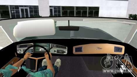 Buick Riviera 1972 Boattail pour une vue GTA Vice City de la droite