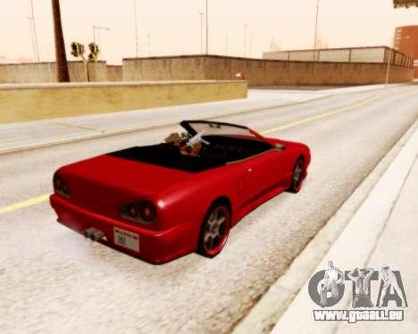Élégie Convertibles v1.1 pour GTA San Andreas laissé vue